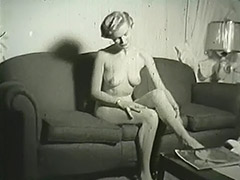 Blonde Undresses in Her Apartment 1950 tube porn video