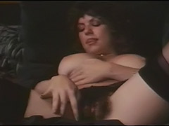 Hairy Busty Girl Masturbates to Orgasm 1970 tube porn video