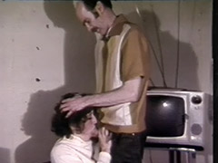 Vintage Cumshots videos. She shows him the sperm in her mouth, swallows, and shows him her empty mouth