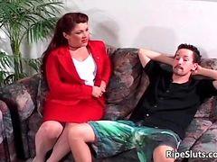 Beautiful redhead hot horny busty tube porn video