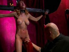 Submissive slave hard fetish spanking and playing tube porn video