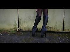 Beautiful Ballet Heel Boots tube porn video