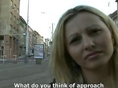 CZECH STREETS Ilona takes cash for public sex tube porn video