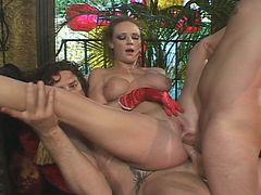 Audrey hollander's dp sex tube porn video