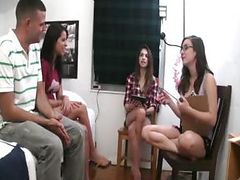 Teen girls playing with dildo cock tube porn video