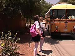 Faye Reagan bus stop girls tube porn video