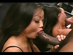 Two hot chicks gets a hardcore interracial fuck tube porn video