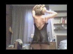 Hot gal dances and strips Gorgeous babe in seducing underwear dances in front of camera Her motions tube porn video