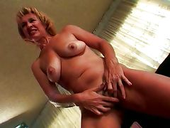 Horny old lady begs for chocolate tube porn video