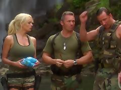 Hardcore Threesome With The Sexy Blonde Soldier Stormy Daniels tube porn video