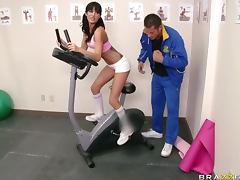 Marathonic Hardcore Sex in the Gym with Brunette Gia Dimarco tube porn video