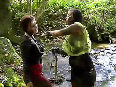 Girls fight in the mud riverside tube porn video