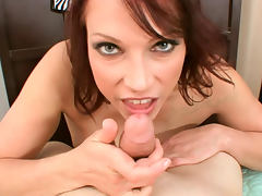 Nicki Hunter redhead blowjob and titjob tube porn video