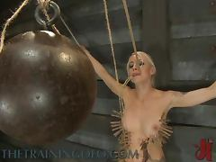 Tit Pumping And Clothespins Torture For Blonde in BDSM Clip tube porn video