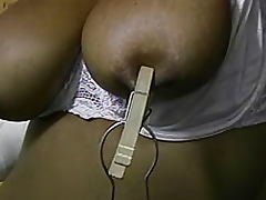 Ball gag and nipple clamps tube porn video
