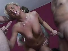 Bree Olson blowbang with many cumshots tube porn video