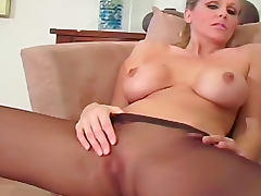 Julia Ann pantyhose jerk off instructions tube porn video