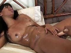 Two black lesbian hoodrats toying tube porn video