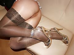 Sweet Nylon MILF Legs feat timmac tube porn video