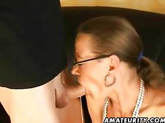 Amateur footjob handjob and blowjob with cum tube porn video