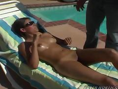 Hot Latin Bitch Fucks The Pool Guy tube porn video