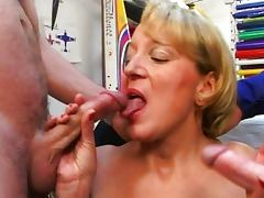 French mature fucked by two guys tube porn video
