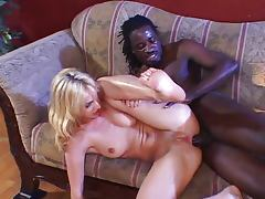 Loud babe yells for black cock tube porn video