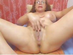 Webcam Colombian granny Milf teasing tube porn video