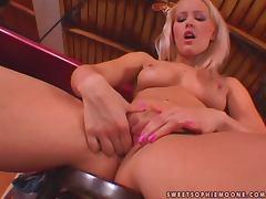 Sophie Moone enjoys fingering her cute pink slit indoors tube porn video