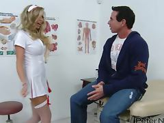 Samantha Saint the beautiful blonde nurse gets fucked tube porn video