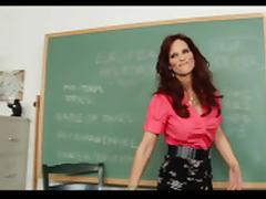 Foxy mature teacher gets load tube porn video
