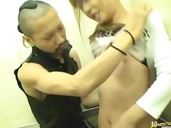 Pretty Japanese Housewife Gets Fucked In Elevator tube porn video