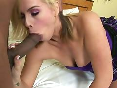 Lovely blonde tara lynn foxx gobble a black rod tube porn video