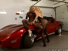 Candy Strong and Sophie Moone strip and play lesbian games tube porn video