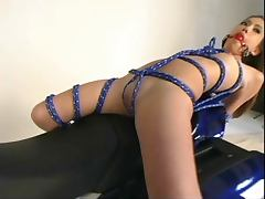Tied Up Gir On The Bike tube porn video