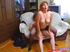 Mature Russian MILF fucked by young dude tube porn video