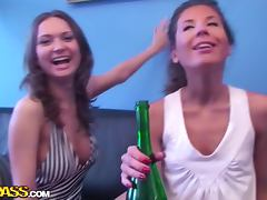 Beautiful College Girls Get Drunk and Ready for a Lesbian Party tube porn video
