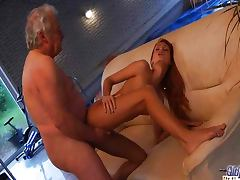 Old grandpa fucked by young Erica tube porn video