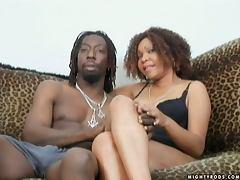 Tengi is sweet on her new boyfriend's large black cock tube porn video