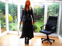 Mistress Blondia in outfit pvc tube porn video