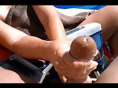 big cock beach handjob with huge cumshot 15 spurts tube porn video