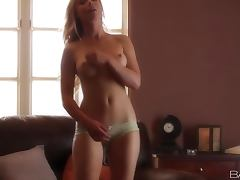 Kayden Kross the nice blonde in lingerie fingers herself tube porn video
