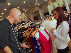 Johnny Sins impaed Lily Carter in the store tube porn video