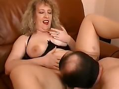 Curly mature bitch in stockings gets her pussy fucked tube porn video