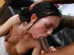 Two monster black penis in her anal tube porn video