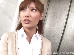 Elevator blowjob makes him cum so fast tube porn video