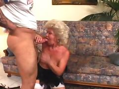 Horny granny fucks muscled dude tube porn video