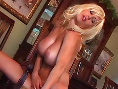 Blonde Puma Swede is playing with her boobies tube porn video