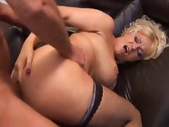 British slut Starr gets fucked up the arse in fishnets tube porn video