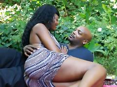 Relaxing Day in the Park Ends with Hardcore Fuck for Ebony Nyomi Banxxx tube porn video